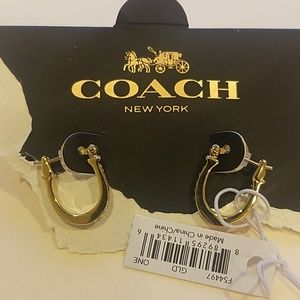 NWT Coach Horseshoe Earrings